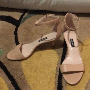 Nine West kitten toe nude sandals